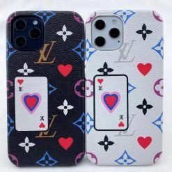 Louis Vuitton  Style Luxury Leather Tower Protective Designer iPhone Case For All iPhone Models - Casememe