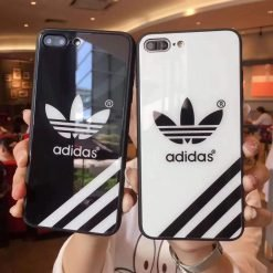 Adidas Originals Pyramid Stripe Tempered Glass Glossy Designer iPhone Case For iPhone SE 11 PRO MAX X XS XS Max XR 7 8 Plus - Casememe