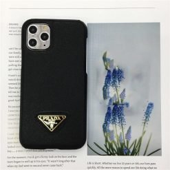 Prada Style Leather Shockproof Protective Designer iPhone Case For iPhone 12 SE 11 Pro Max X XS Max XR 7 8 Plus - Casememe