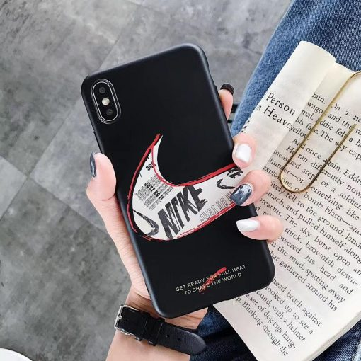 Nike Style Matte Silicone Shockproof Protective Designer iPhone Case For iPhone SE 11 Pro Max X XS Max XR 7 8 Plus - Casememe
