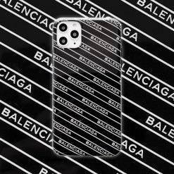 Balenciaga Style Glossy Silicone Shockproof Protective Designer iPhone Case For iPhone 12 SE 11 Pro Max X XS Max XR 7 8 Plus - Casememe