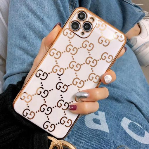 Gucci Style Classic Electroplating Shockproof Protective Designer iPhone Case For iPhone 12 SE 11 Pro Max X XS Max XR 7 8 Plus - Casememe