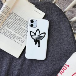 Adidas Style Silicone Protective Designer iPhone Case For iPhone 12 SE 11 Pro Max X XS Max XR 7 8 Plus - Casememe