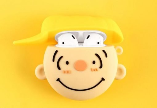 Snoopy Style Charlie Brown Head Silicone Protective Shockproof Case For Apple Airpods 1 & 2 - Casememe