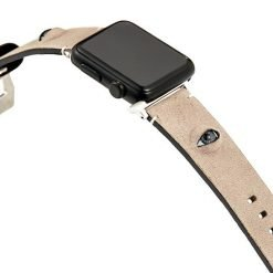 3D Eye Beige Leather Compatible With Apple Watch 38mm 40mm 42mm 44mm Band Strap For iWatch Series 4/3/2/1 - Casememe