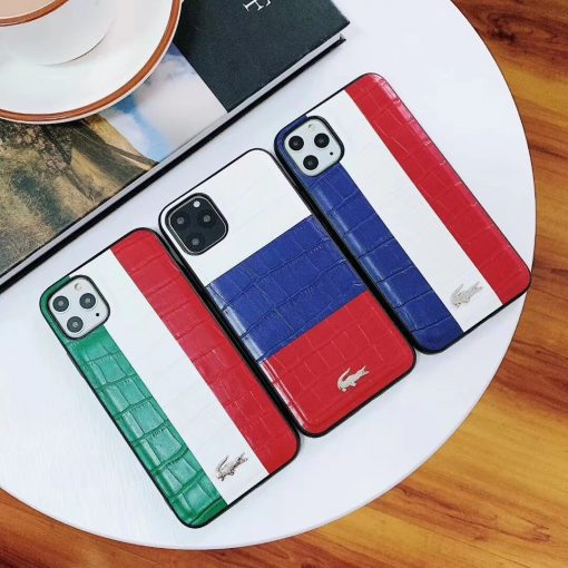 Lacoste Style Leather Minimalism Shockproof Protective Designer iPhone Case For iPhone 11 Pro Max X XS Max XR 7 8 Plus - Casememe