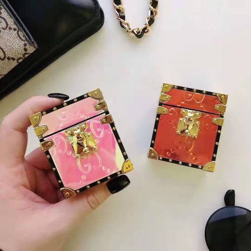 GC Style Box Laser Luxury Leather Protective Case For Apple Airpods 1 & 2 - Casememe
