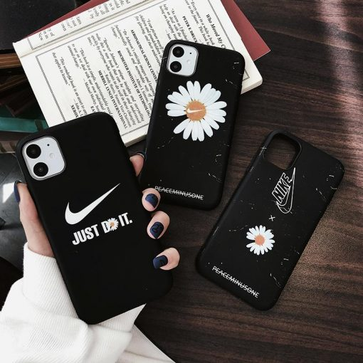 Nike Style Daisy Silicone Designer iPhone Case For iPhone 12 SE X XS XS Max XR 7 8 Plus - Casememe