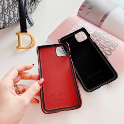 Dior Style Classic Fabric Cardholder Wallet Silicone Shockproof Protective Designer iPhone Case For iPhone 12 SE 11 Pro Max X XS Max XR 7 8 Plus - Casememe