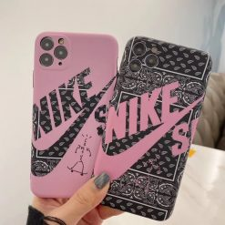 Nike Style SB Series Matte Silicone Shockproof Protective Designer iPhone Case For iPhone 12 SE 11 Pro Max X XS Max XR 7 8 Plus - Casememe
