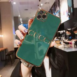 Gucci Style Mirror Metal Frame Protective Designer iPhone Case For iPhone SE 11 Pro Max X XS Max XR 7 8 Plus - Casememe