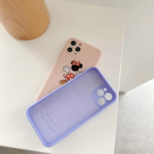 Disney Style Mickey Minnie Matte Silicone Shockproof Protective Designer iPhone Case For iPhone SE 11 Pro Max X XS Max XR 7 8 Plus - Casememe