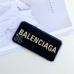 Balenciga Style Electroplating Glossy TPU Silicone Designer iPhone Case For iPhone 12 SE 11 Pro Max X XS XS Max XR 7 8 Plus - Casememe