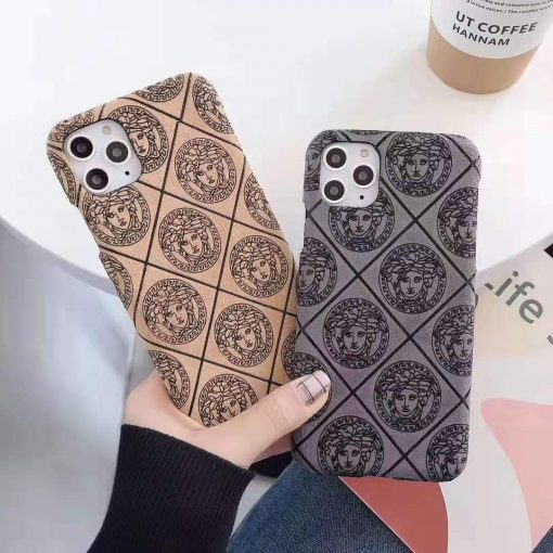 Versace Style Classic Silicone Shockproof Protective Designer iPhone Case For iPhone 12 SE 11 Pro Max X XS Max XR 7 8 Plus - Casememe