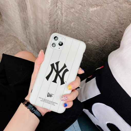 MLB Style Matte Silicone Shockproof Protective Designer iPhone Case For iPhone SE 11 Pro Max X XS Max XR 7 8 Plus - Casememe