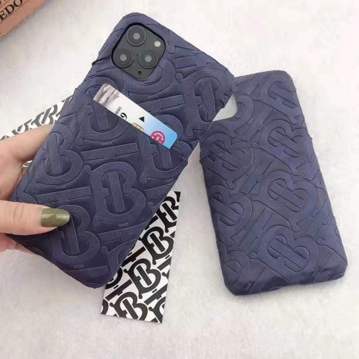 Burberry Style Leather Shockproof Designer iPhone Case For iPhone 11 Pro Max X XS XS Max XR 7 8 Plus - Casememe