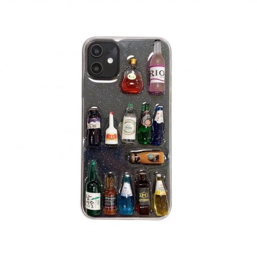 3D Juice Bottle Silicone Shockproof Protective Designer iPhone Case For iPhone SE 11 Pro Max X XS Max XR 7 8 Plus - Casememe