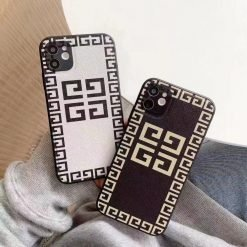 Givenchy Style Leather Designer iPhone Case For All iPhone Models - Casememe
