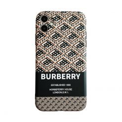 Burberry Style Luxury Silicone Shockproof Protective Designer iPhone Case For iPhone SE 11 Pro Max X XS Max XR 7 8 Plus - Casememe