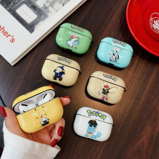 POKEMON Style Glossy Protective Case For Apple Airpods 1 & 2 & Pro - Casememe