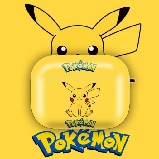 POKEMON Style Pikachu Matte Protective Case For Apple Airpods 1 & 2 & Pro - Casememe