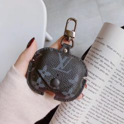 Monogram Luxury Leather Pouch Classic Protective Case For Apple Airpods Pro - Casememe