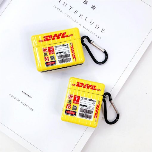 DHL Style Glossy Protective Case For Apple Airpods 1 & 2 & Pro - Casememe