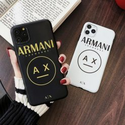 Armani Exchange Style Silicone Designer iPhone Case For iPhone 12 SE X XS XS Max XR 7 8 Plus - Casememe
