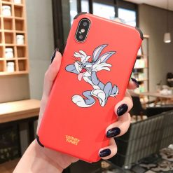 Bugs Bunny Style Corner Protection Silicone Shockproof Protective Designer iPhone Case For iPhone SE 11 Pro Max X XS Max XR 7 8 Plus - Casememe