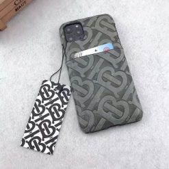 Burberry Style Leather Shockproof Designer iPhone Case For iPhone SE 11 Pro Max X XS XS Max XR 7 8 Plus - Casememe