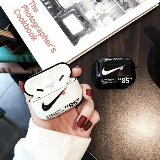 NIKE x Off White Style Glossy Silicone Protective Case For Apple Airpods Pro - Casememe