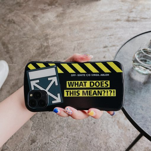 Off White Style Round Corner Silicone Shockproof Protective Designer iPhone Case For iPhone SE 11 Pro Max X XS Max XR 7 8 Plus - Casememe