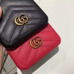 Gucci Style Marmont Leather Designer iPhone Case For iPhone X XS XS Max XR 7 8 Plus - Casememe