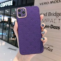 Louis Vuitton Style Soft Silicone Designer iPhone Case For iPhone SE 11 Pro Max X XS Max XR 7 8 Plus - Casememe