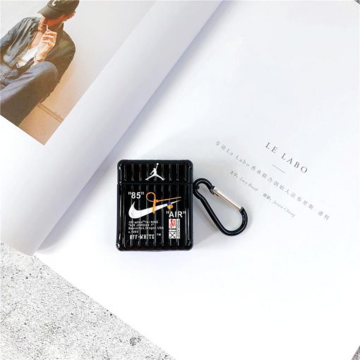 NIKE & Air Jordan Style Square Silicone Protective Shockproof Case For Apple Airpods 1 & 2 - Casememe
