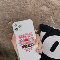 Kenzo Style Tiger Silicone Shockproof Protective Designer iPhone Case For iPhone 12 SE 11 Pro Max X XS Max XR 7 8 Plus - Casememe