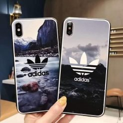 Adidas Style Original Matte Silicone Designer iPhone Case For iPhone SE 11 Pro Max X XS Max XR 7 8 Plus - Casememe