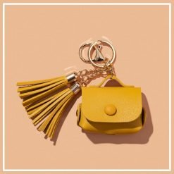 Leather Pouch Tassel Keychain Protective Case For Apple Airpods Pro - Casememe