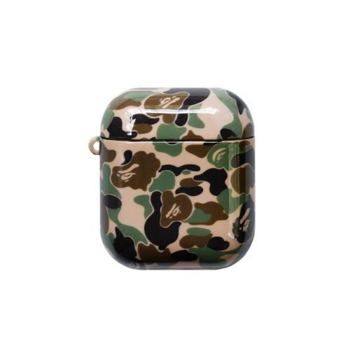 Bape Style Camo Glossy Hard Protective Shockproof Case For Apple Airpods 1 & 2 - Casememe