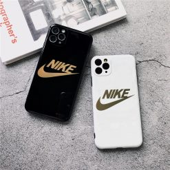 Nike Style Electroplating Glossy TPU Silicone Designer iPhone Case For iPhone 12 SE 11 Pro Max X XS XS Max XR 7 8 Plus - Casememe