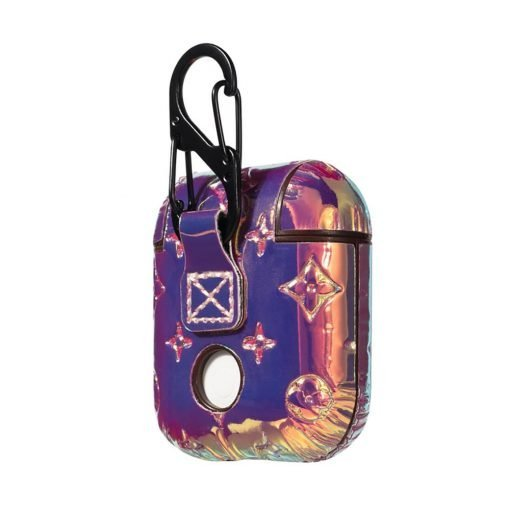 MORE COLORS Louis Vuitton Style Unicorn Laser Rainbow Leather Protective Shockproof Case For Apple Airpods 1 & 2 - Casememe