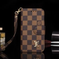 MORE COLORS Louis Vuitton Style Damier Wallet Magnetic Cardholder Designer iPhone Case For iPhone X XS XS Max XR 7 8 Plus - Casememe