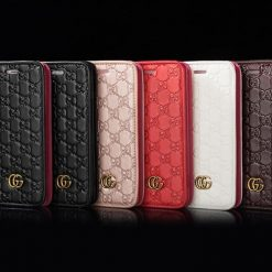 Gucci Style GG Marmont Leather Magnetic Wallet Designer iPhone Case For iPhone X XS XS Max XR 7 8 Plus - Casememe