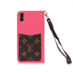 MORE COLORS Louis Vuitton Style Monogram Leather Wallet Cardholder Designer iPhone Case For iPhone X XS XS Max XR 7 8 Plus - Casememe