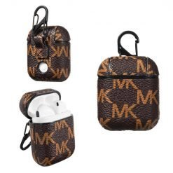 Michael Kors Style Leather Protective Shockproof Case For Apple Airpods 1 & 2 - Casememe