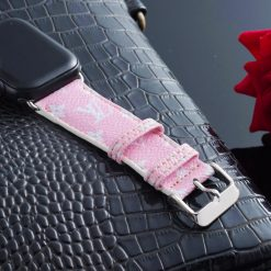 Louis Vuitton Style Color Series Monogram Leather Compatible With Apple Watch 38mm 40mm 42mm 44mm Band Strap For iWatch Series 4/3/2/1 - Casememe