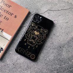 Kenzo Style Electroplating Glossy TPU Silicone Designer iPhone Case For iPhone 12 SE 11 Pro Max X XS XS Max XR 7 8 Plus - Casememe