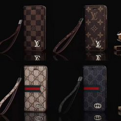 Louis Vuitton Gucci Style Leather Magnetic Wallet Designer iPhone Case For iPhone X XS XS Max XR 7 8 Plus - Casememe