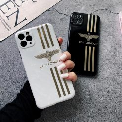 Boy London Style Electroplating Glossy TPU Silicone Designer iPhone Case For iPhone 12 SE 11 Pro Max X XS XS Max XR 7 8 Plus - Casememe