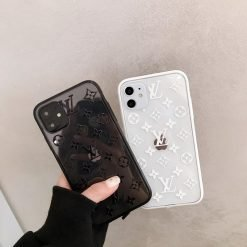 Louis Vuitton Style Classic Tempered Glass Shockproof Protective Designer iPhone Case For iPhone 12 SE 11 Pro Max X XS Max XR 7 8 Plus - Casememe